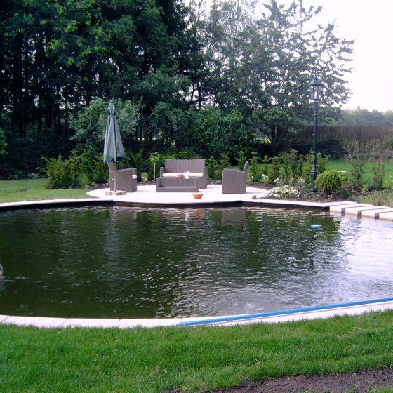 Zwemvijver Diever met vlonderterras