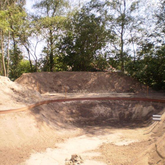 Uitgraving Zwemvijver Rogat