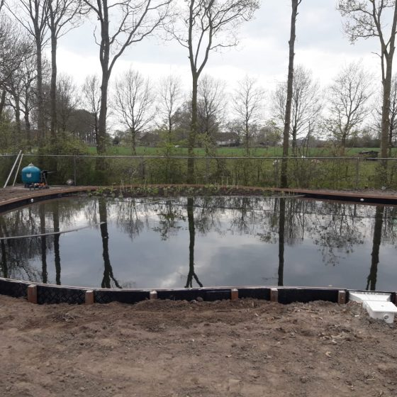 aanleg zwemvijver Sint Jansklooster