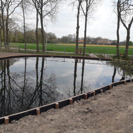 zwemvijver aanleggen Sint Jansklooster